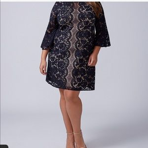Flounce-sleeve Lane Bryant Lace Dress Size 22